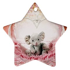 Elephant Heart Plush Vertical Toy Ornament (Star)