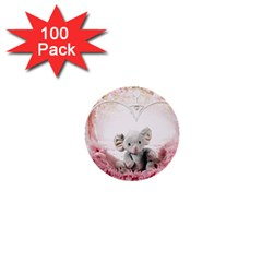 Elephant Heart Plush Vertical Toy 1  Mini Buttons (100 pack)