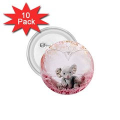 Elephant Heart Plush Vertical Toy 1 75  Buttons (10 Pack)