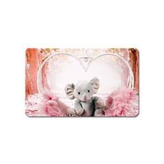 Elephant Heart Plush Vertical Toy Magnet (name Card)