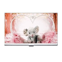 Elephant Heart Plush Vertical Toy Business Card Holders