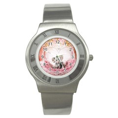 Elephant Heart Plush Vertical Toy Stainless Steel Watch