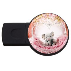 Elephant Heart Plush Vertical Toy USB Flash Drive Round (4 GB)
