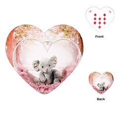 Elephant Heart Plush Vertical Toy Playing Cards (heart)