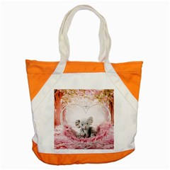 Elephant Heart Plush Vertical Toy Accent Tote Bag