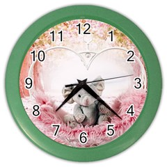 Elephant Heart Plush Vertical Toy Color Wall Clocks