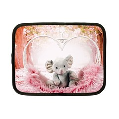 Elephant Heart Plush Vertical Toy Netbook Case (small)