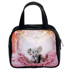 Elephant Heart Plush Vertical Toy Classic Handbags (2 Sides)
