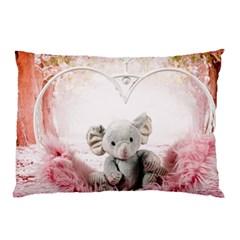 Elephant Heart Plush Vertical Toy Pillow Case