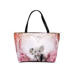 Elephant Heart Plush Vertical Toy Shoulder Handbags
