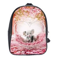 Elephant Heart Plush Vertical Toy School Bags(large)