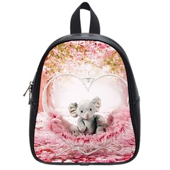 Elephant Heart Plush Vertical Toy School Bags (Small)