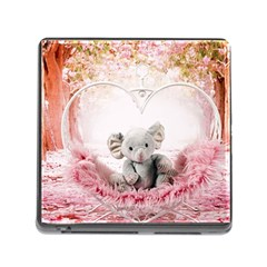 Elephant Heart Plush Vertical Toy Memory Card Reader (square)