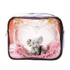 Elephant Heart Plush Vertical Toy Mini Toiletries Bags