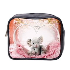 Elephant Heart Plush Vertical Toy Mini Toiletries Bag 2 Side