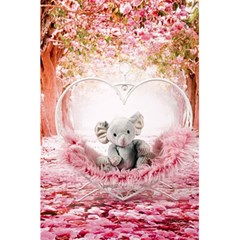 Elephant Heart Plush Vertical Toy 5 5  X 8 5  Notebooks
