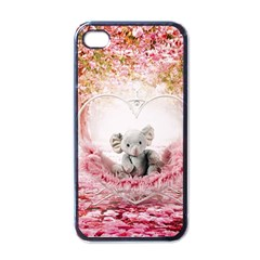 Elephant Heart Plush Vertical Toy Apple Iphone 4 Case (black)