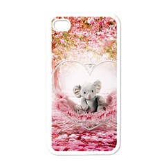 Elephant Heart Plush Vertical Toy Apple Iphone 4 Case (white)