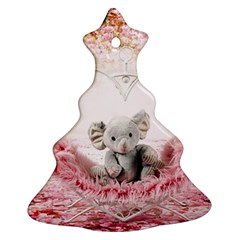 Elephant Heart Plush Vertical Toy Christmas Tree Ornament (2 Sides)