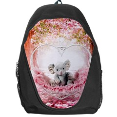 Elephant Heart Plush Vertical Toy Backpack Bag