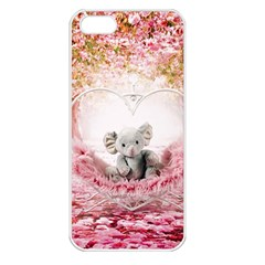 Elephant Heart Plush Vertical Toy Apple Iphone 5 Seamless Case (white)