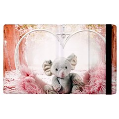 Elephant Heart Plush Vertical Toy Apple Ipad 2 Flip Case