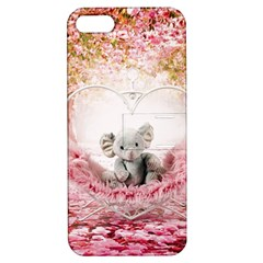 Elephant Heart Plush Vertical Toy Apple Iphone 5 Hardshell Case With Stand