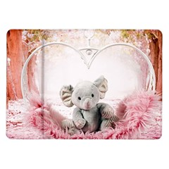 Elephant Heart Plush Vertical Toy Samsung Galaxy Tab 10 1  P7500 Flip Case