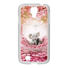 Elephant Heart Plush Vertical Toy Samsung Galaxy S4 I9500/ I9505 Case (white)