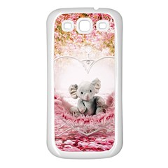 Elephant Heart Plush Vertical Toy Samsung Galaxy S3 Back Case (white)
