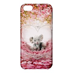 Elephant Heart Plush Vertical Toy Apple Iphone 5c Hardshell Case