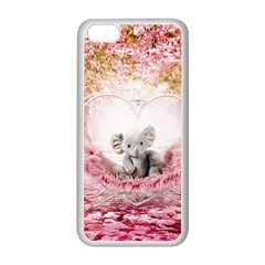 Elephant Heart Plush Vertical Toy Apple Iphone 5c Seamless Case (white)