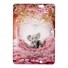 Elephant Heart Plush Vertical Toy Kindle Fire Hdx 8 9  Hardshell Case