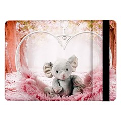 Elephant Heart Plush Vertical Toy Samsung Galaxy Tab Pro 12 2  Flip Case