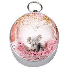 Elephant Heart Plush Vertical Toy Silver Compasses