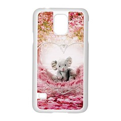 Elephant Heart Plush Vertical Toy Samsung Galaxy S5 Case (white)