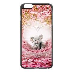 Elephant Heart Plush Vertical Toy Apple Iphone 6 Plus/6s Plus Black Enamel Case