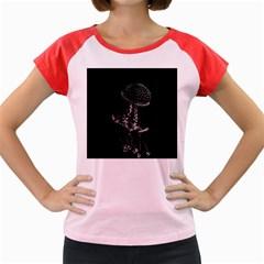 Jellyfish Underwater Sea Nature Women s Cap Sleeve T Shirt
