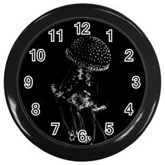 Jellyfish Underwater Sea Nature Wall Clocks (Black)