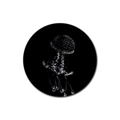 Jellyfish Underwater Sea Nature Rubber Coaster (round)