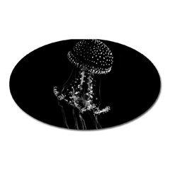 Jellyfish Underwater Sea Nature Oval Magnet