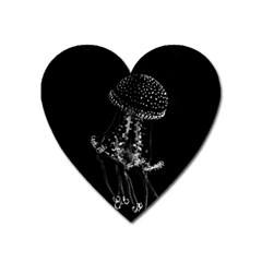 Jellyfish Underwater Sea Nature Heart Magnet