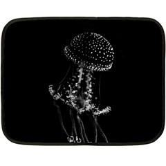 Jellyfish Underwater Sea Nature Fleece Blanket (mini)
