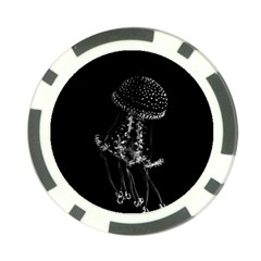 Jellyfish Underwater Sea Nature Poker Chip Card Guards (10 Pack)