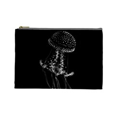 Jellyfish Underwater Sea Nature Cosmetic Bag (Large)