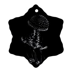 Jellyfish Underwater Sea Nature Snowflake Ornament (2 Side)