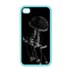 Jellyfish Underwater Sea Nature Apple Iphone 4 Case (color)