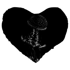 Jellyfish Underwater Sea Nature Large 19  Premium Flano Heart Shape Cushions