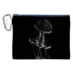 Jellyfish Underwater Sea Nature Canvas Cosmetic Bag (xxl)