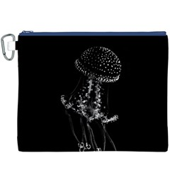 Jellyfish Underwater Sea Nature Canvas Cosmetic Bag (xxxl)